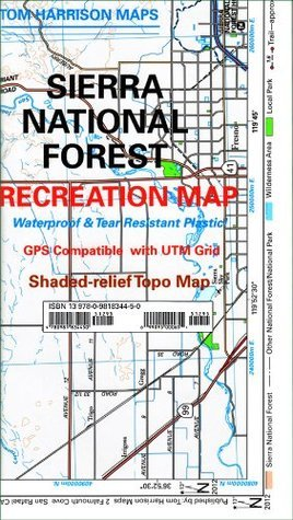 Sierra National Forest Recreation Map  by  Tom Harrison