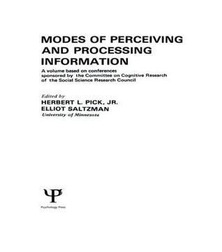 Modes of Perceiving and Processing Information  by  Herbert L. Pick Jr.