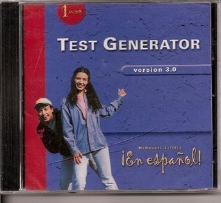 En Espanol! Level 1 Test Generator Version 3.0 CD-ROM McDougal Littell