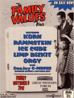 The Family Values Tour 1998 Postcard  by  Family Values Tour