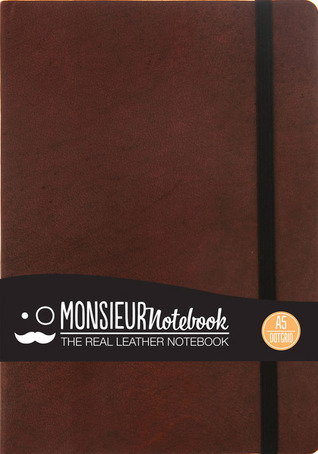 Monsieur Notebook Brown Leather Dot Grid Medium  by  NOT A BOOK