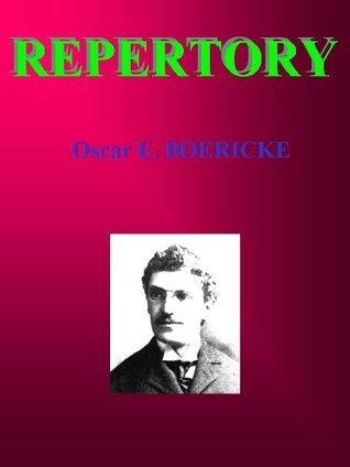REPERTORY: Homeopathy  by  Oscar E. Boericke