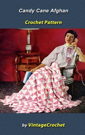 Candy Cane Afghan Vintage Crochet Pattern Vintage Crochet