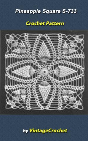 Pineapple Square S-733 Vintage Crochet Pattern  by  VintageCrochet