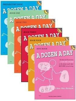 Dozen a Day Set (Willis, Preparatory- Level 4, with Mini Book and CDS) Edna Mae Burnam