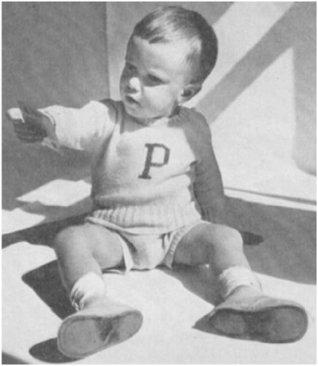 #1969 UNIVERSITY-LETTER SWEATER VINTAGE KNITTING PATTERN  by  Princess of Patterns