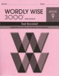 Wordly Wise 3000 Test Book Gr9  by  Unlisted
