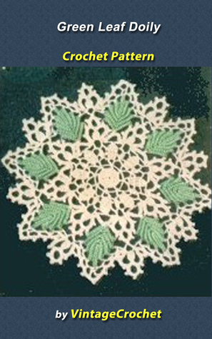 Green Leaf Doily Vintage Crochet Pattern  by  Vintage Crochet