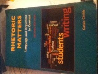 Title: RHETORIC MATTERS Sylvan Barnet