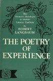 The Poetry of Experience: the Dramatic Monologue in Modern Literary Tradition Robert Langbaum