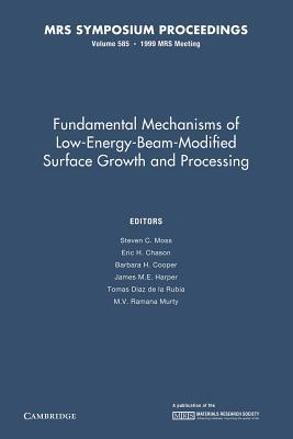Fundamental Mechanisms of Low-Energy-Beam Modified Surface Growth and Processing: Volume 585 Steven C. Moss
