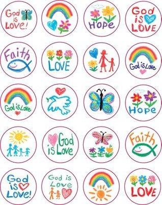 Faith Shape Stickers: Kid-Drawn  by  Carson-Dellosa Publishing