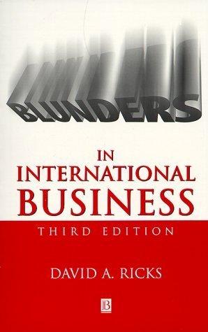 Blunders In International Business  by  David A. Ricks