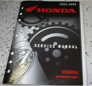 04 2005 2006 2007 2008 Honda VFR800/A Interceptor Service Shop Repair Manual OEM Honda