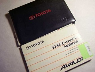 1997 Toyota Avalon Owners Manual Toyota