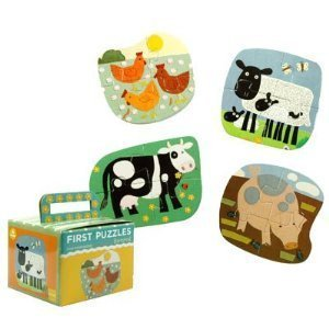 First Puzzle: Barnyard: Four Shaped Puzzles-four Pieces Each Clare Beaton