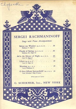 In the Silence of Night Op.4 No.3 (Song with Piano Accompaniment)  by  Sergei Rachmaninoff
