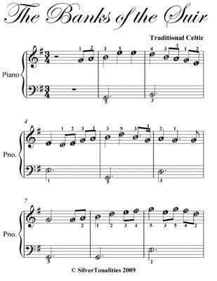 The Banks of the Suir Easy Piano Sheet Music  by  Traditional Celtic