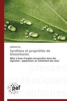 Synthese Et Proprietes de Biosorbants Ely Abdellahi