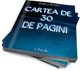 Cartea de 30 de pagini Butcu Andrei