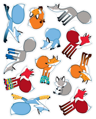 Playful Foxes Shape Stickers Carson-Dellosa Publishing
