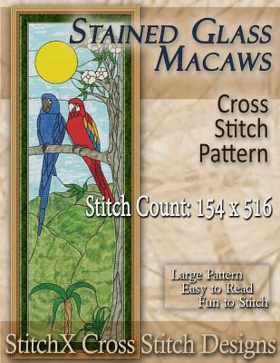 Stained Glass Macaws Cross Stitch Pattern Tracy Warrington