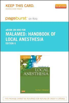 Handbook of Local Anesthesia - Elsevier E-Book on Intel Education Study Stanley F. Malamed