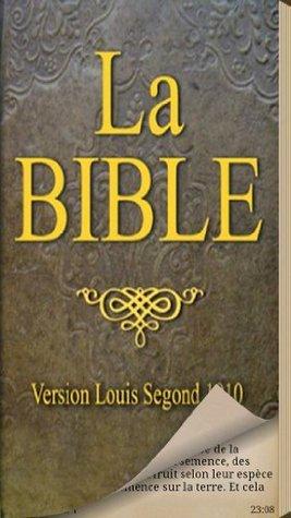 La Bible Louis Segond Anonymous