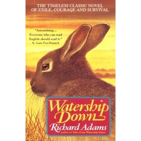 a review of richard adams watership down Watership down [richard adams] -- chronicles the adventures of a group of  rabbits searching for a safe  based on 1 rating(s) 0 with reviews - be the first.
