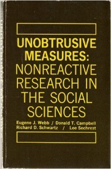 Unobtrusive Measures: Nonreactive Research in the Social Sciences  by  Eugene J. Webb