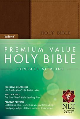 Premium Value Compact Slimline Bible NLT, Tutone  by  Anonymous