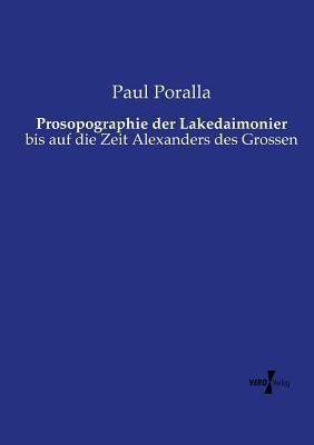 Prosopographie Der Lakedaimonier Paul Poralla
