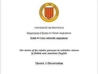 The choice of the relative pronoun in restrictive clauses in British and American English Fabien Torrecillas