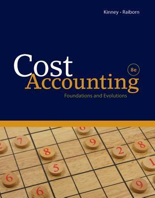 Cost Accounting  by  Michael R. Kinney