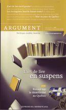 Argument Vol 11. No. 1 Daniel Tanguay