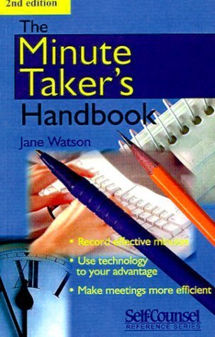 The Minute Takers Handbook  by  Jane Watson