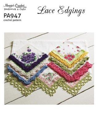 Crochet Pattern Lace Edgings PA947-R  by  Maggie Weldon