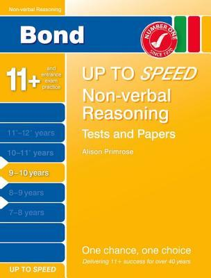 Bond 9-10 Up to Speed Non-Verbal Reasoning Tests and Papers 9-10 Years Frances Down