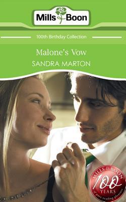 Malones Vow  by  Sandra Marton