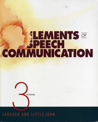 Elements of Speech Communication David M. Jabusch