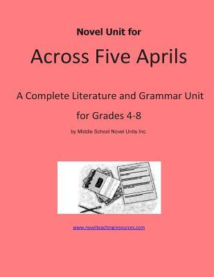 Novel Unit for Across Five Aprils Novel Units, Inc.