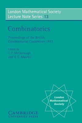 Combinatorics  by  T.P. McDonough