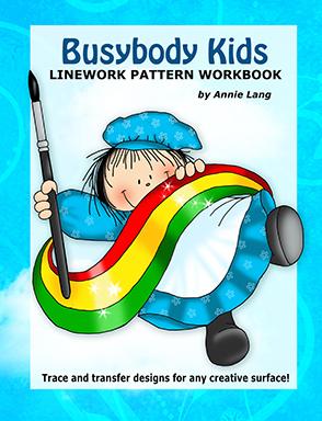 Busybody Kids: Linework Pattern Workbook  by  Annie Lang