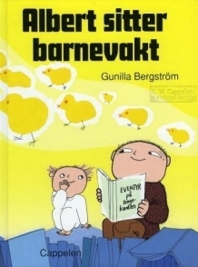 Albert Åberg sitter barnevakt Gunilla Bergström