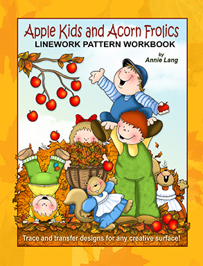 Apple Kids and Acorn Frolics: Linework Pattern Workbook Annie Lang