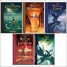 Percy Jackson Complete Library, Books 1-5 (Percy Jackson and the Olympians, Volumes 1-5) Rick Riordan