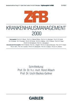 Krankenhausmanagement 2000  by  Horst Albach