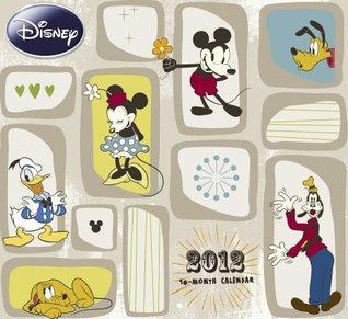 2012 Disney Mickey Classic Retro Art Wall Calendar  by  NOT A BOOK