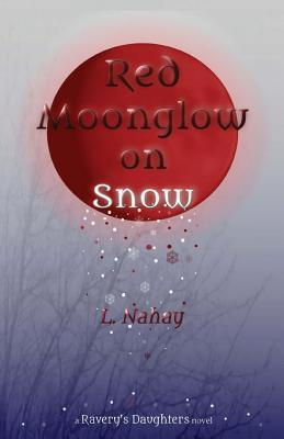 Red Moonglow on Snow  by  L Nahay