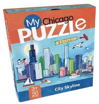 My Chicago Puzzle: City Skyline Violet Lemay